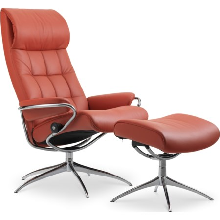 High Back Recliner and Ottoman