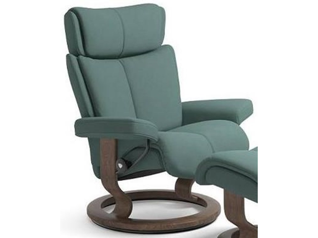 Stressless MagicLarge Reclining Chair with Classic Base
