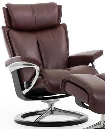 Stressless MagicLarge Reclining Chair with Signature Base