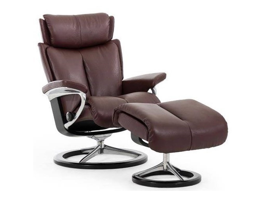 Stressless MagicMedium Reclining Chair and Ottoman