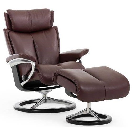 Stressless MagicSmall Reclining Chair and Ottoman