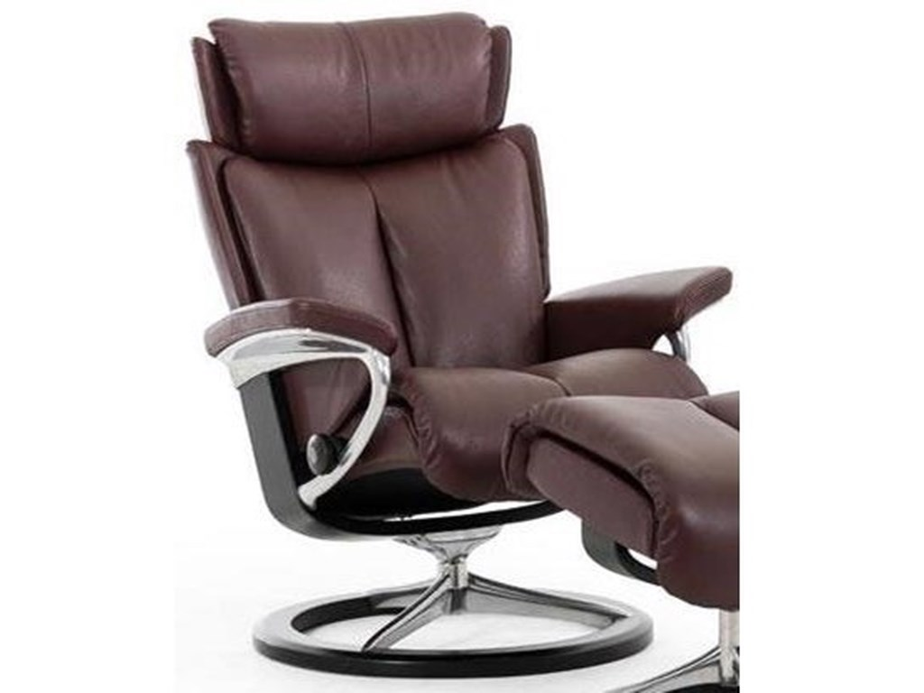 Stressless MagicSmall Reclining Chair with Signature Base