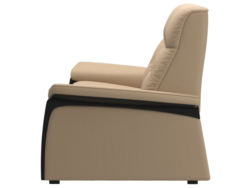 Stressless MaryReclining 2 Seat Loveseat with Wood Arms