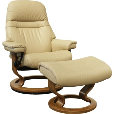 Medium Stressless Chair & Ottoman