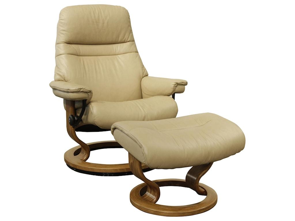 Stressless SunriseSmall Stressless Chair & Ottoman