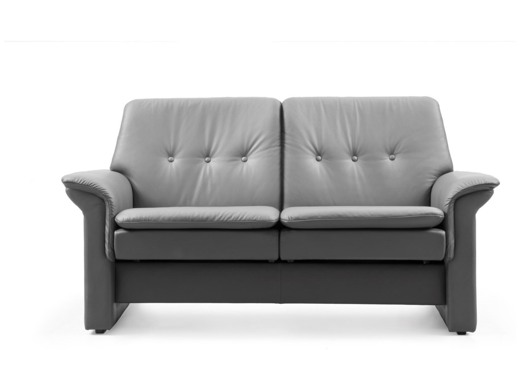 Stressless SagaLow-Back Reclining Loveseat