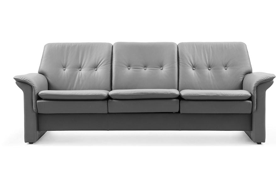 Pleasant Stressless Saga Low Back Reclining Sofa Fashion Furniture Beatyapartments Chair Design Images Beatyapartmentscom