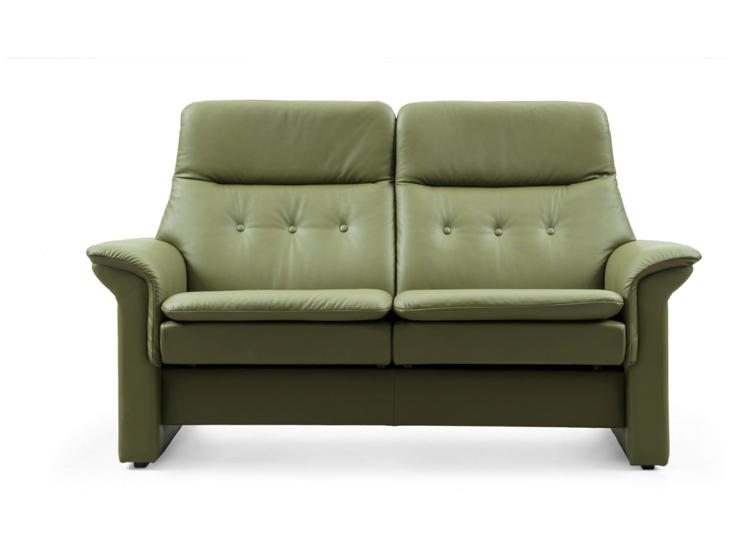 Stressless SagaHigh-Back Reclining Loveseat