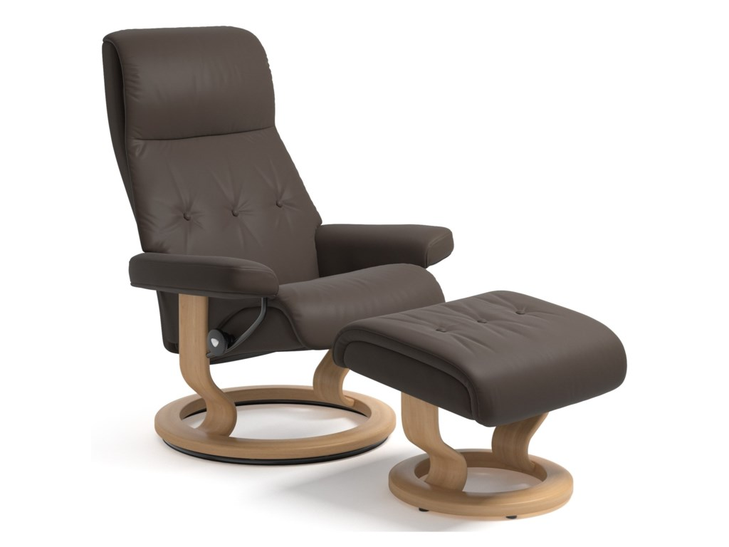 Stressless SkySmall Reclining Chair and Ottoman