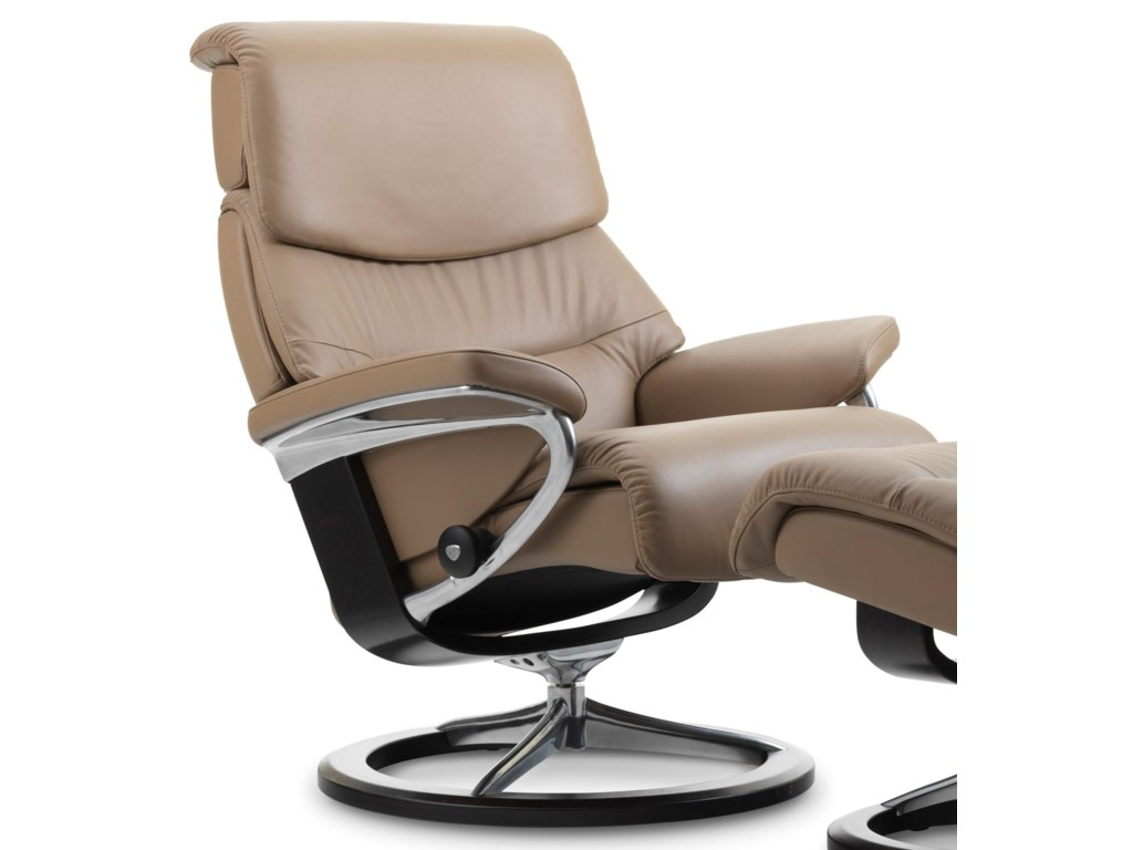 Stressless CapriSmall Reclining Chair with Signature Base