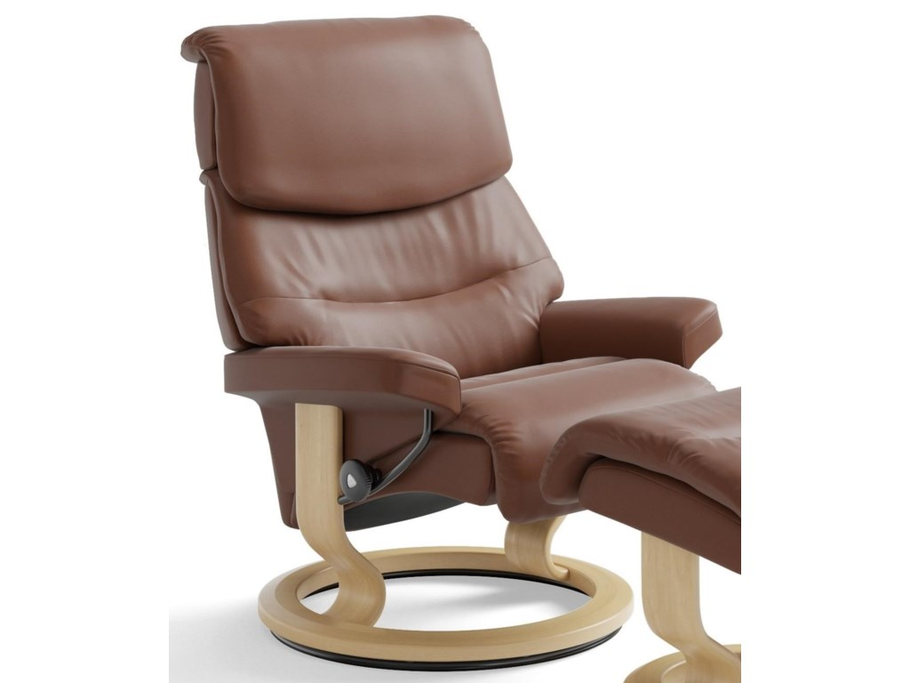 Stressless CapriMedium Reclining Chair with Classic Base