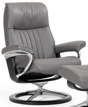 Stressless CrownSmall Reclining Chair with Signature Base