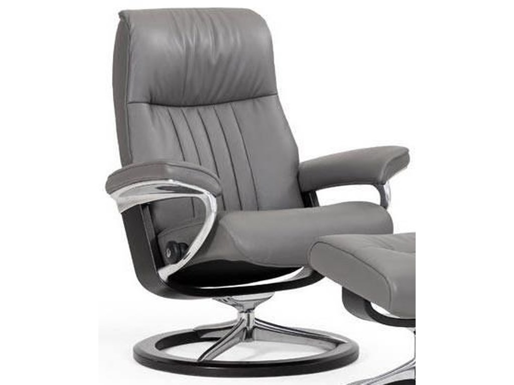 Stressless CrownLarge Reclining Chair with Signature Base