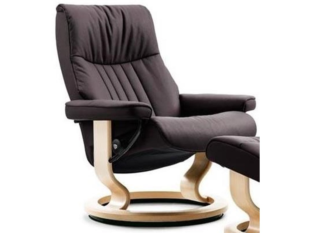 Stressless CrownMedium Reclining Chair with Classic Base