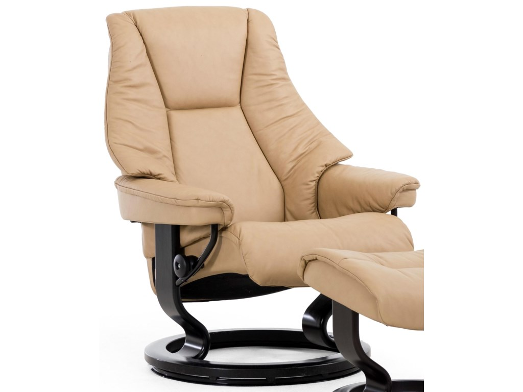 Stressless LiveMedium Reclining Chair with Classic Base