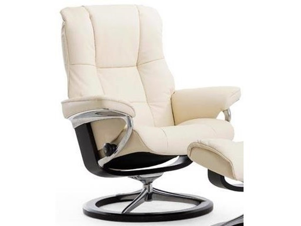 Stressless MayfairSmall Reclining Chair with Signature Base