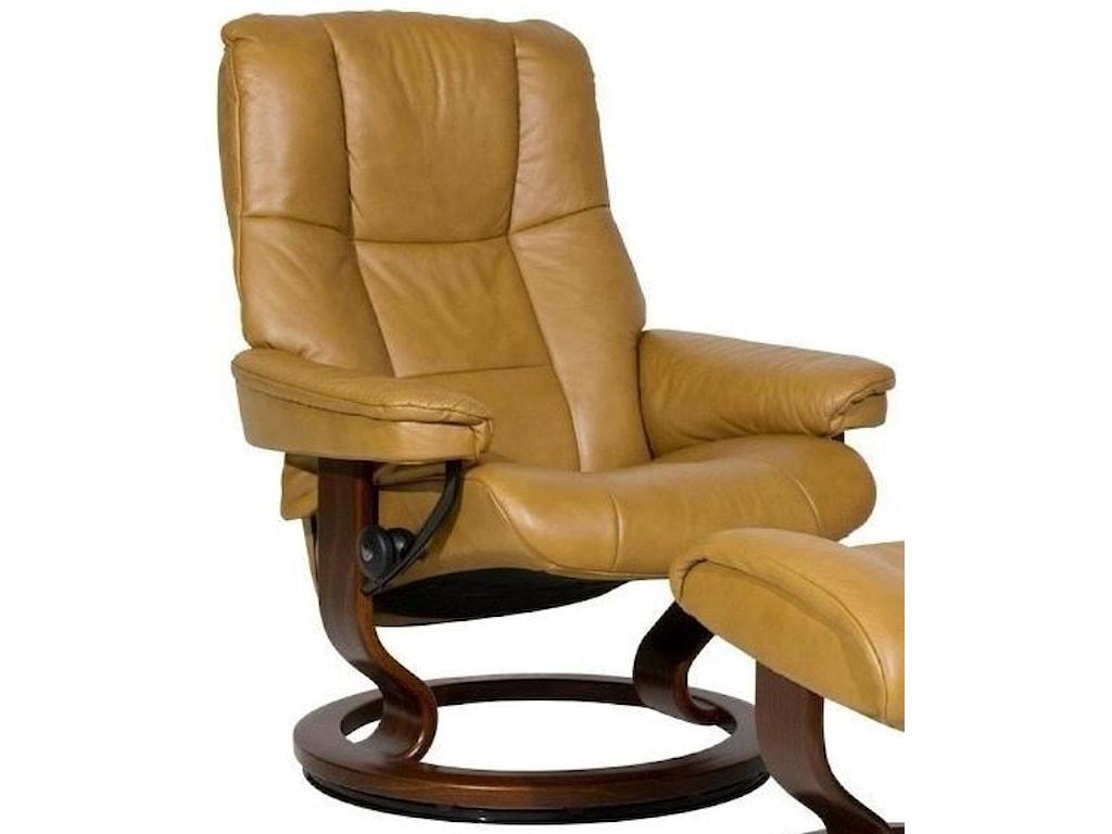54564cc7c6842 Stressless Mayfair Medium Reclining Chair with Classic Base ...