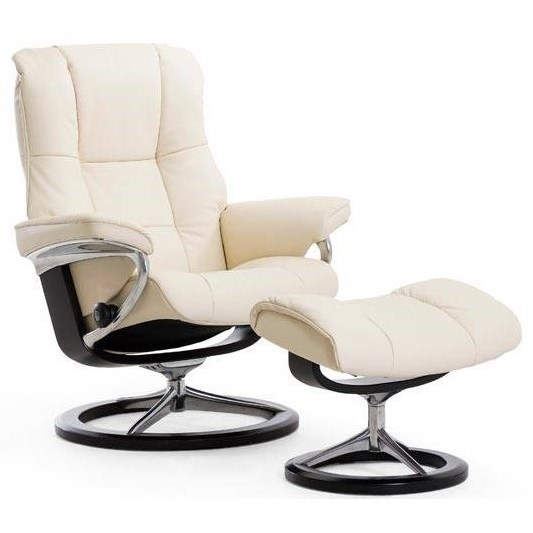 Stressless MayfairLarge Reclining Chair and Ottoman