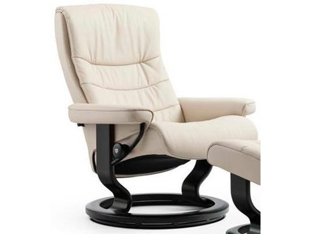 Stressless NordicSmall Reclining Chair with Classic Base