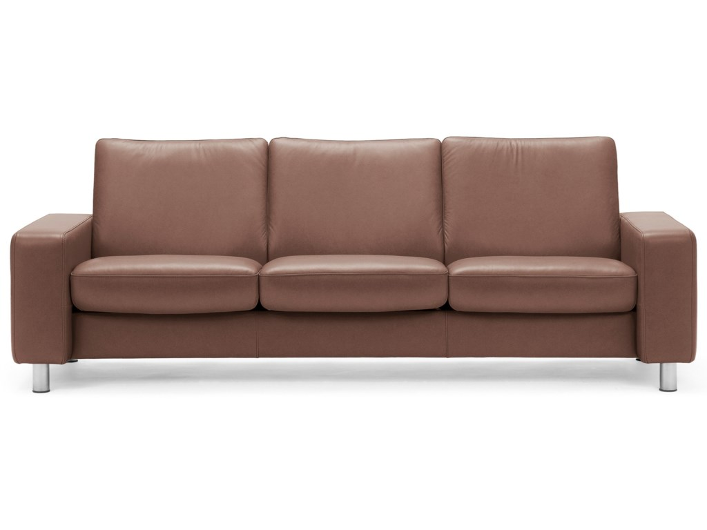 Stressless stressless pause low back reclining sofa