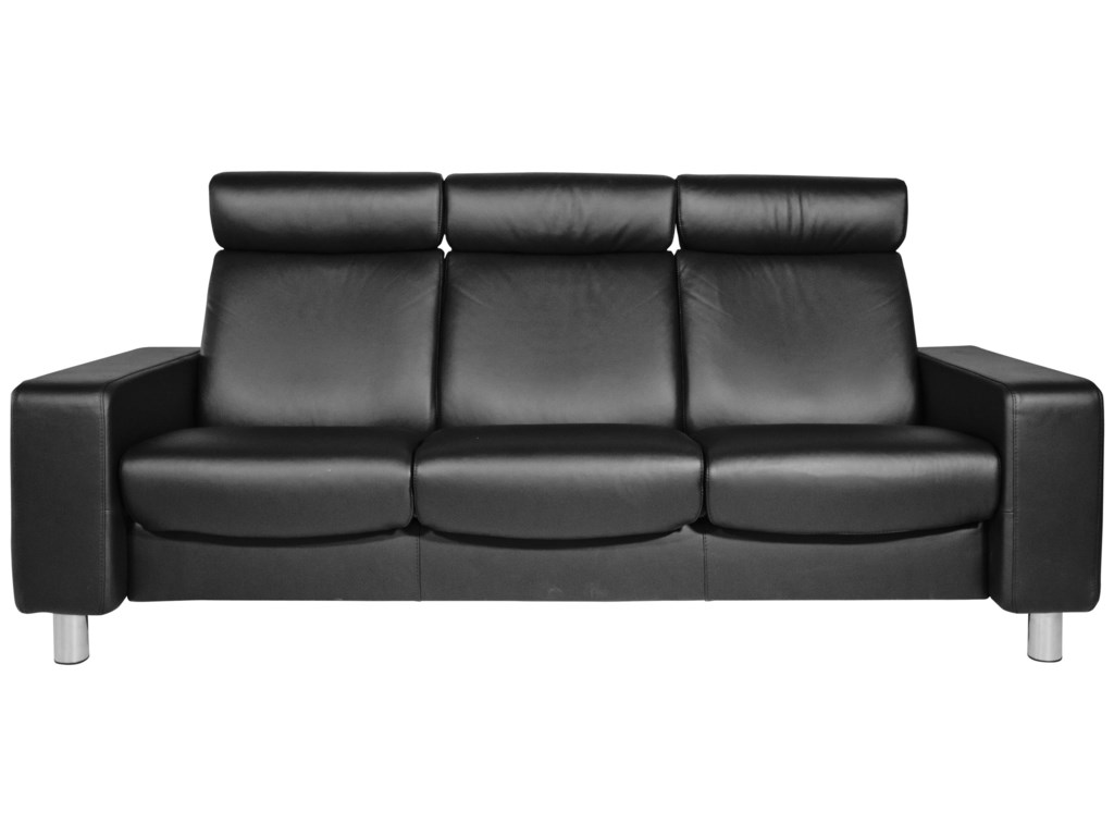 Stressless Pause Reclining Sofa by Stressless at HomeWorld Furniture