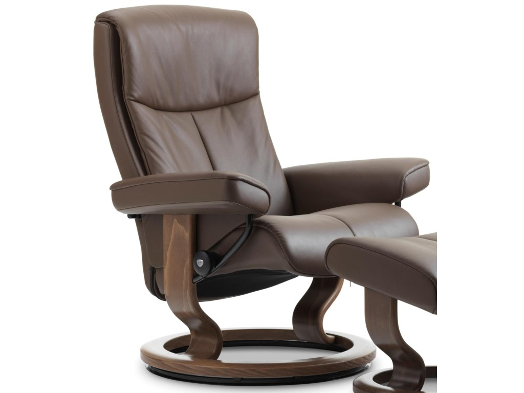 Stressless PeaceMedium Reclining Chair with Classic Base
