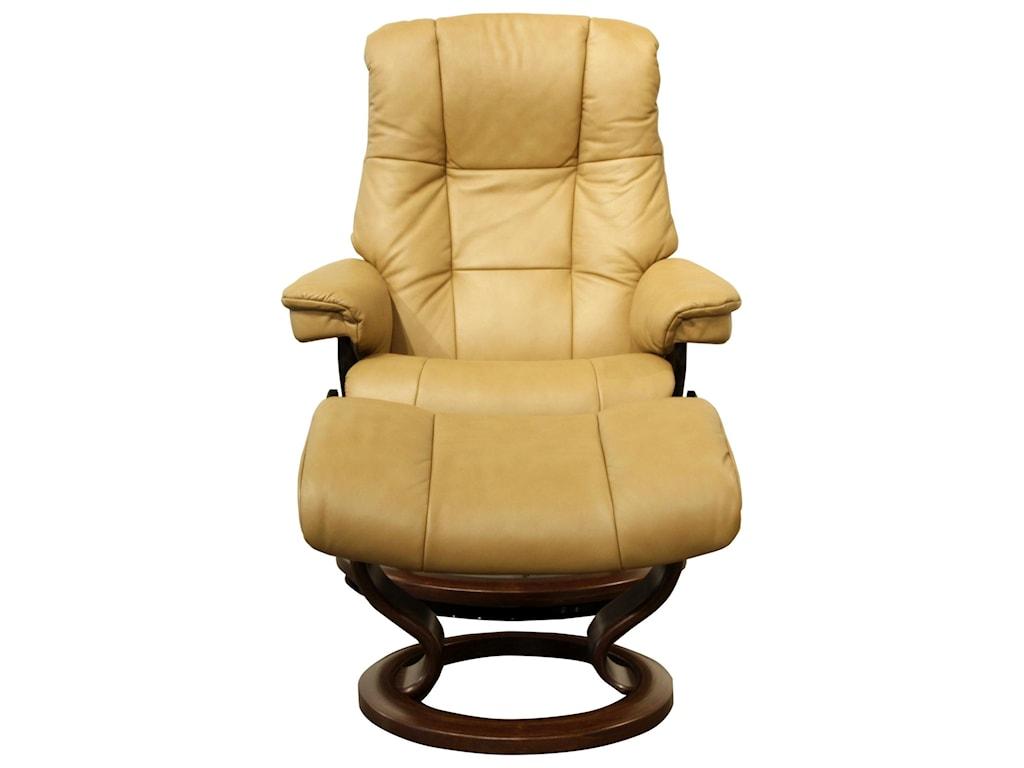 Stressless  Mayfair Small Stressless Chair & Ottoman