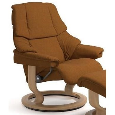 Stressless RenoSmall Reclining Chair with Classic Base