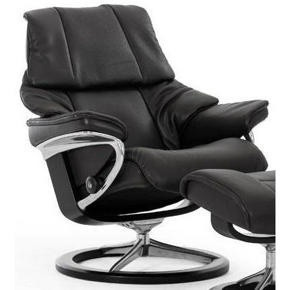 Reno Small Reclining Chair With Signature Base By Stressless