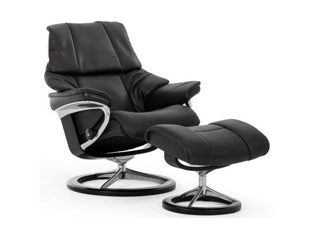 Stressless RenoSmall Reclining Chair and Ottoman