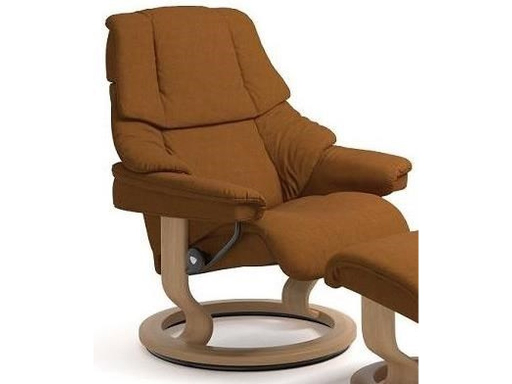 Stressless RenoLarge Reclining Chair with Classic Base