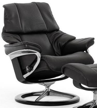 Stressless RenoLarge Reclining Chair with Signature Base