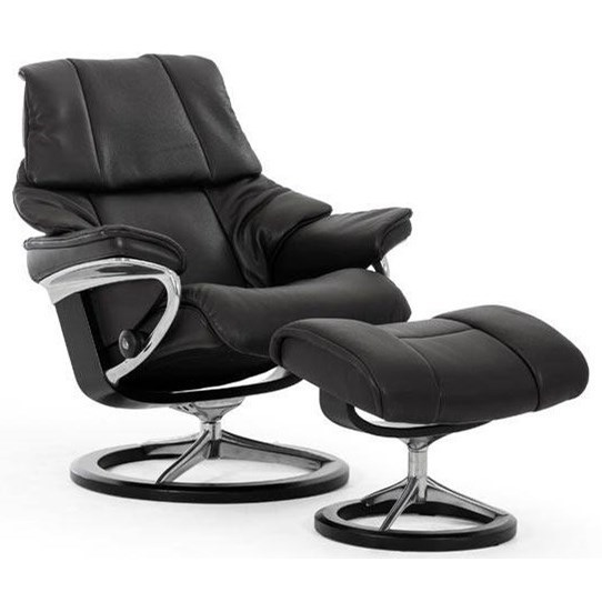 Stressless RenoLarge Reclining Chair and Ottoman