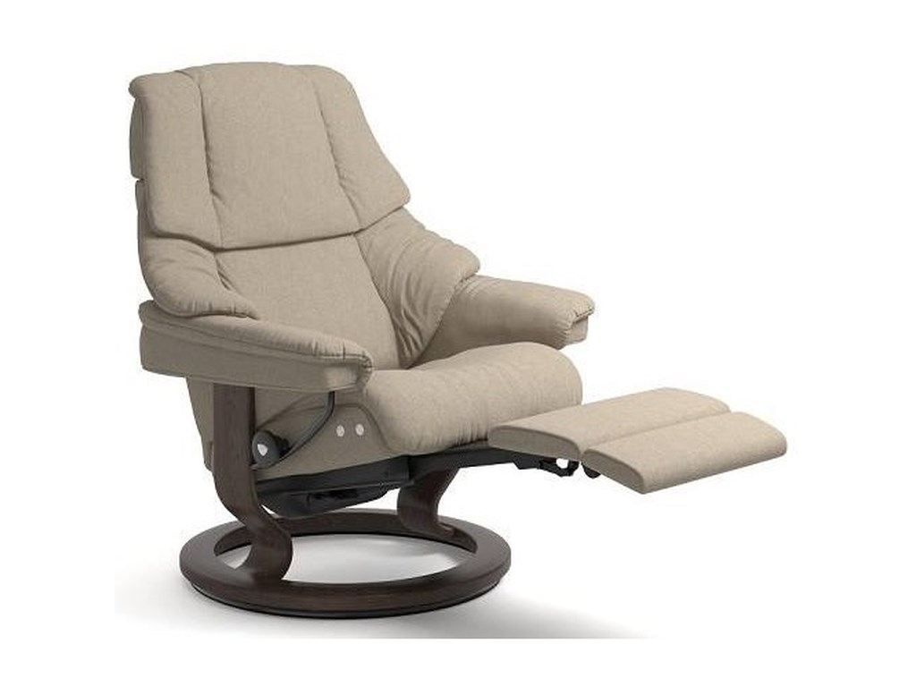 Stressless RenoLarge LegComfort Chair with Classic Base