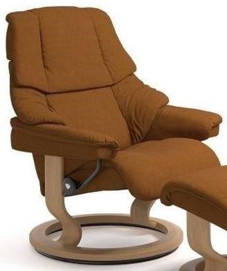 Stressless Reno Medium Reclining Chair With Classic Base Jordan S