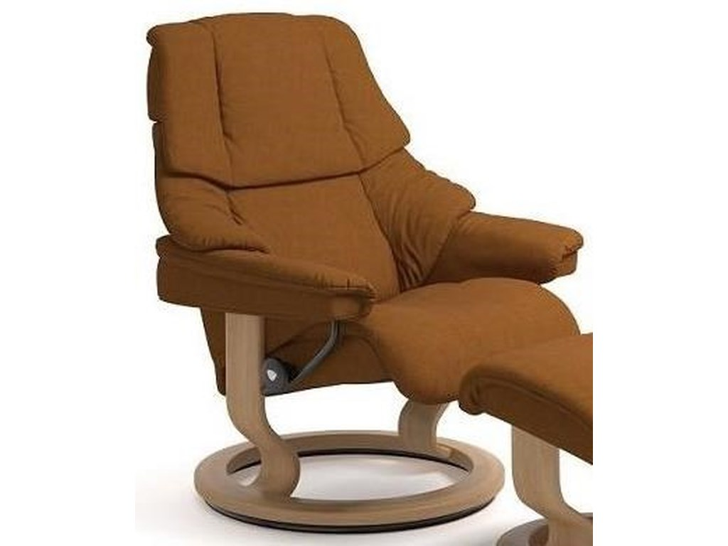 Stressless Reno 1169010 Medium Reclining Chair With Classic Base