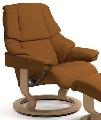 Stressless RenoMedium Reclining Chair with Classic Base