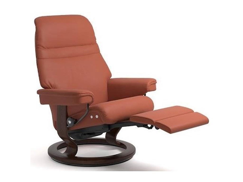 Stressless SunriseMedium LegComfort Chair with Classic Base