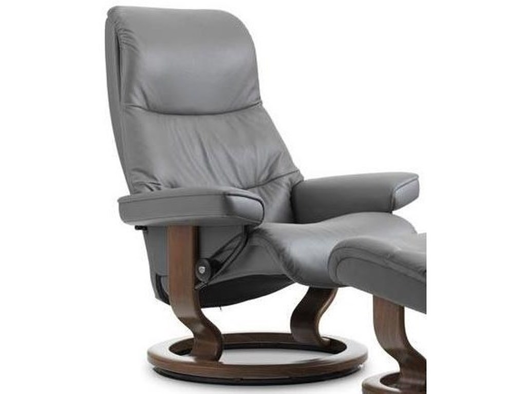 Stressless View 1306010 Small Reclining Chair With Classic Base