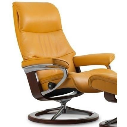 Stressless ViewSmall Reclining Chair with Signature Base
