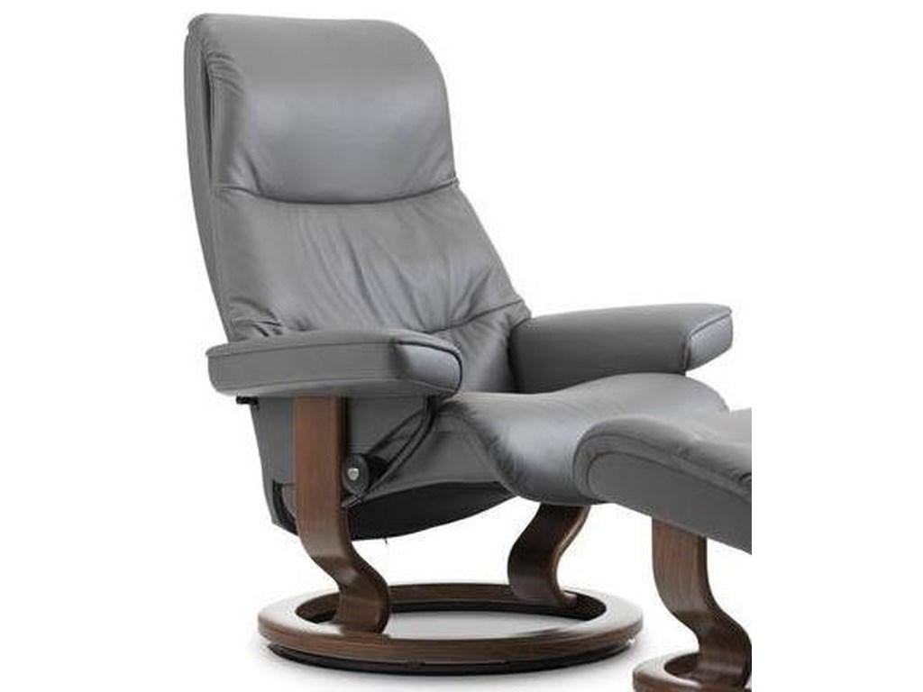 Stressless ViewMedium Reclining Chair with Classic Base