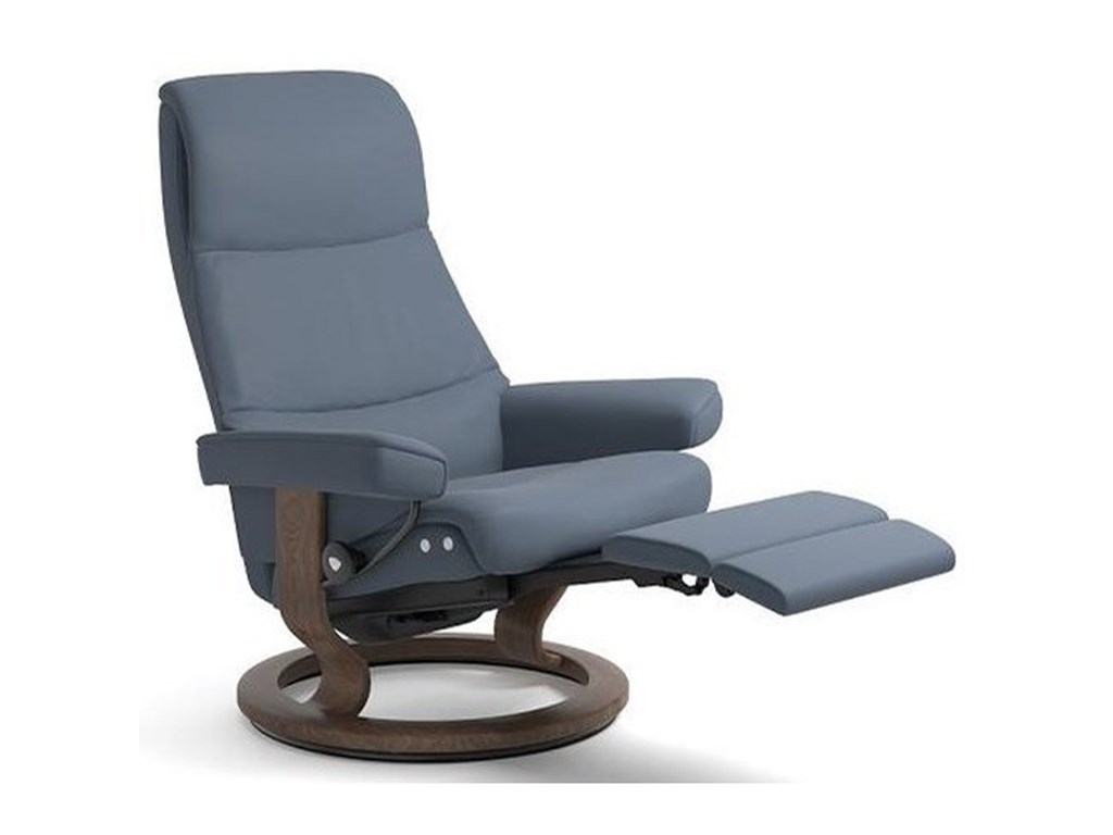Stressless ViewMedium LegComfort Chair with Classic Base