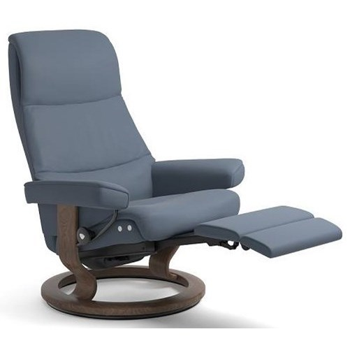 Stressless ViewMedium LegComfort Chair with Classic Base