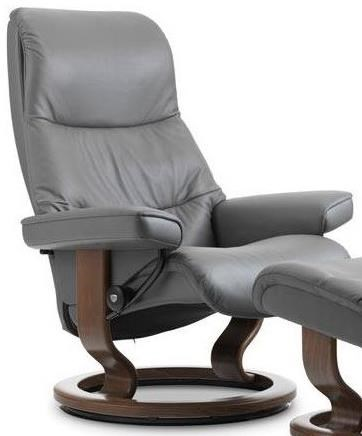 Stressless ViewLarge Reclining Chair with Classic Base