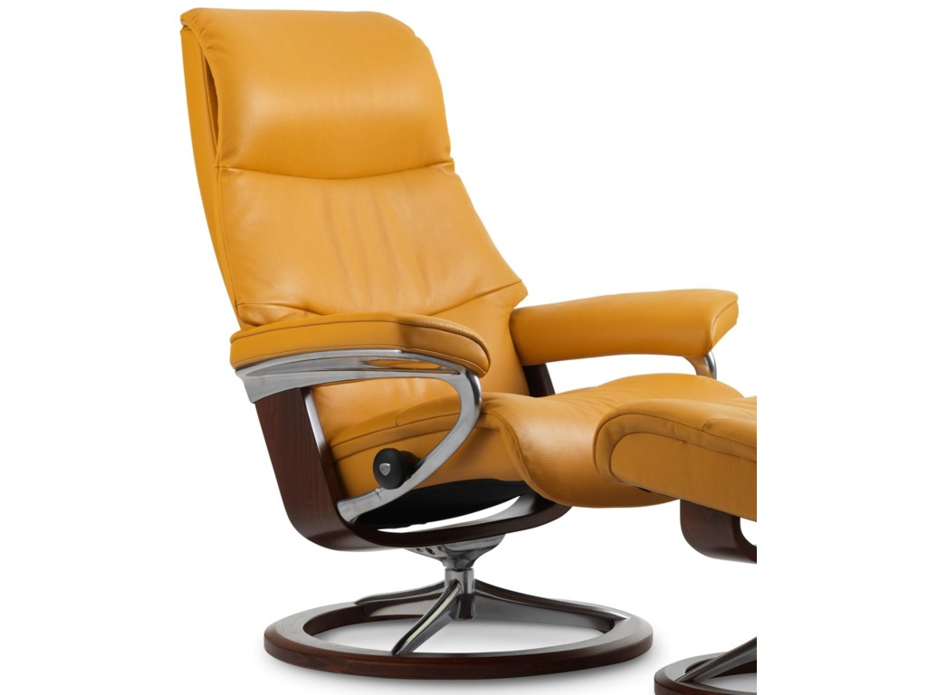 Stressless ViewLarge Reclining Chair with Signature Base