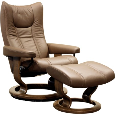 Small Stressless Chair & Ottoman