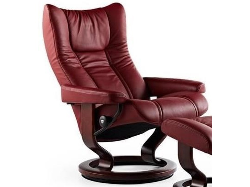 Stressless WingLarge Reclining Chair with Classic Base