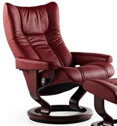 stressless wing 1060010 large reclining chair with classic base