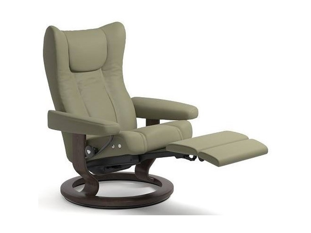Stressless WingLarge LegComfort Chair with Classic Base