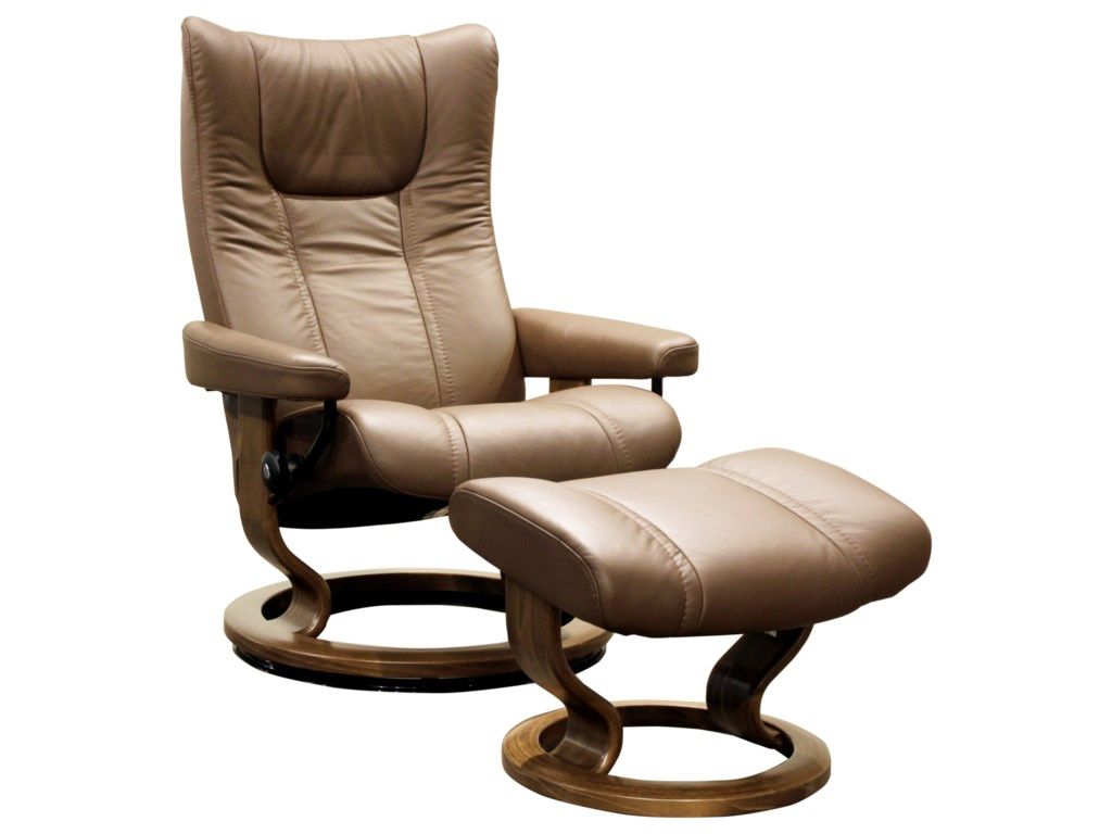 Stressless WingMedium Stressless Chair & Ottoman